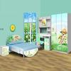 Lifestyle Colorful Kids Bedroom Cartoon Design Kids Furniture Wholesale 978B