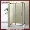 profil en aluminium de verre cabine de douche carré