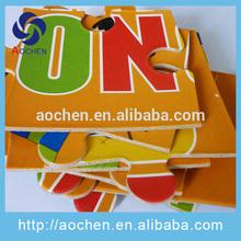 eco friendly kids cartoon DIY cardboard paper game puzzle