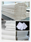 100% combed cotton plain bleach white fabric for home textile