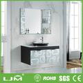 luxo em madeira maciça armário de espelho para o banheiro