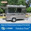 FV-25 2014 New Style Hamburgers Street Food Kiosk Cart 4 Wheels food truck