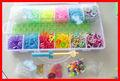 5000 del arco iris de moda banda de goma de colores telar de pulsera de la banda de arranque kit set