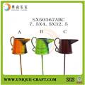 nuevo producto alibaba proveedor de china de decoración para el hogar de flores de hierro forjado maceta colgante