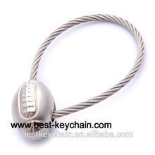 promotion custom design gift rugby ball key chain (BBK52120)