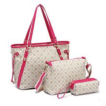 E773 Hot sale!! Promotional trendy lady office shoulder hand bag of 3pcs one set