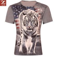 new 2014 flag white tiger 3d printing t shirt