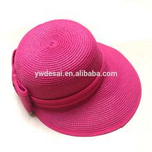 Wholesale custom design convenient fancy ladies rose red church hats for sale