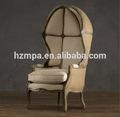ومن ناحية منحوتة خشبية الكلاسيكية الجديدة الفاخرة الترفيه الكراسي البيض