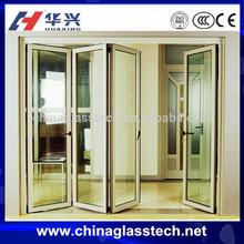 aluminum frame heat insulation size customized folding door partition
