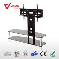 VM-ST12 F-06 Aluminum Glass and Metal TV Stand for living room furniture