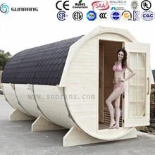 New design outdoor barrel sauna canadian prefabricated wood house