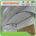 Casa de plástico suporte de policarbonato sombra