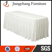 Wedding Rectangle Polyester Table Skirt JC-ZB06