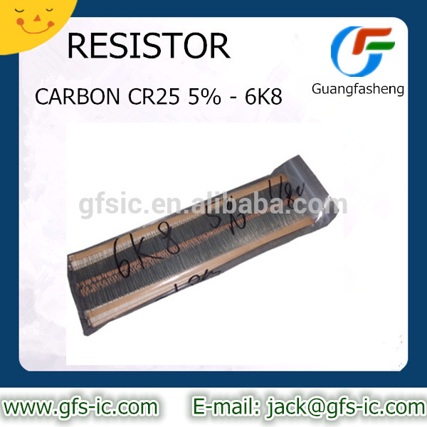 RESISTOR CARBON CR25 5% 6K8