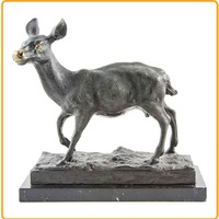 Indoor Life Size Silver White Deer Statues Deer Sculpture for Decoration