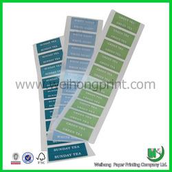 bulk printing adhesive glassine sticker