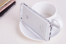 For iPhone 5 ,for iphone 5s Luxury Crystal Rhinestone Diamond Bling Metal Case Cover Bumper