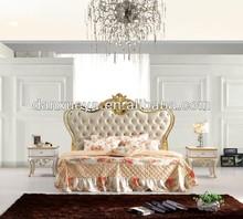 Royal luxury bedroom furniture, antique design wooden bedroom set