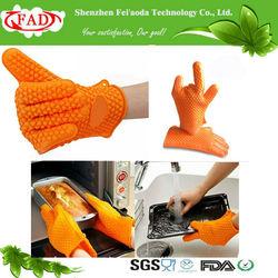 FDA different designs super thick silicon kitchen mitt with five fingers
