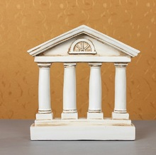 Polyresin ancient vintage rome building house decoration