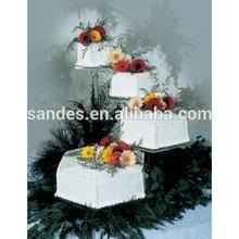 Party Plastic Wedding Cake Stand Wholesale Clear Decorative Desktop Hexagon Acrylic Wedding Cake Stand