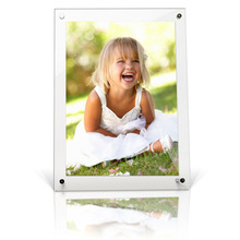 luxury design wall mounting crystal acrylic girls picture frame with nails