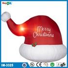 Custom made led light inflatable Christmas hat
