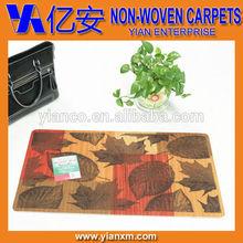 Folha impresso antiderrapante máquina lavável capachos
