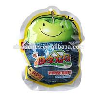 custom printing irregular plstic bags for apple chips