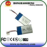 302025 lithium polymer battery cell 170mah 3.7v rechargeable small battery