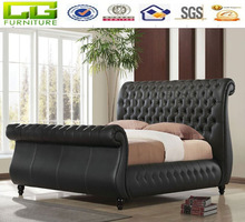 modern sleigh bed of bedroom furniture