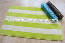 Stripe print custom bath mat