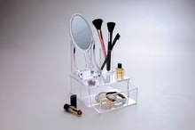 new style clear acrylic cosmetic makeup organizers with mirror