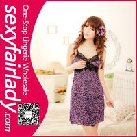 Wholesale women royal purple nude sheer lingerie babydoll