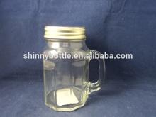 large glass juice mug with straw