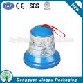 azul pequeña forma de campana de caja de la lata para el regalo de navidad de embalaje del caramelo