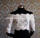Custom Made off-shoulder lace wedding dress jackets half sleeves 2014