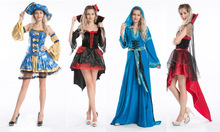 2014 instyles Adult Pirate Lady Fancy Dress Costume Sexy Caribbean Ladies Womens Female