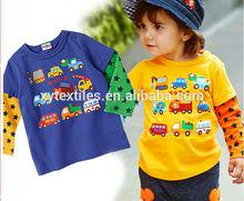 2014 fashion autumn new Japanese cartoon models design children's T-shirt