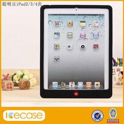 Wholesale silicon case for ipad 4,for ipad silicon case( silicone combination)