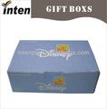 Disney regalo caja de embalaje de alta calidad 5 años surtidor del oro en shenzhen