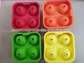 Nueva ronda de bolas de hielo fabricante de la bandeja de cuatro gran esfera de la bola-moldes-cube whisky Cocktails