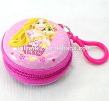 beautiful Palace pets round zipper tin box/ gift tin can for Disney