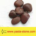 Gros naturel rouge jardin pebble pierre