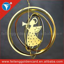 Fairy Handmade Free Design Metal Christmas Decoration for Hanging Xmas Tree