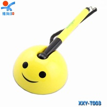 Cute advertising plastic desktop cartoon pen for promotion
