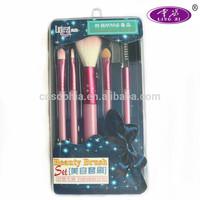 sophia hot sale 5 pcs makeup brush kit with box promotion gift