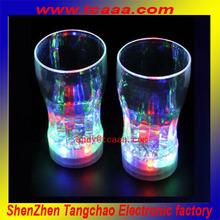 2014 Flashing led light drinking glass