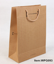 Eco-friendly Brown Kraft paper bag with handle,luxury paper shopping bag